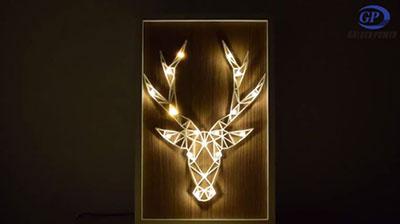 Elk Photo Frame Light
