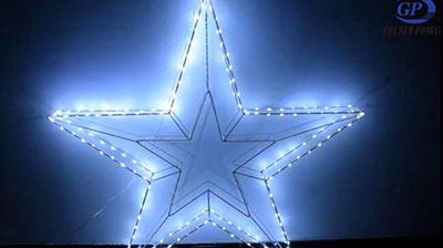 Iron Pentagram Star Light