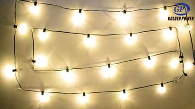 Warm white bulb light string 0