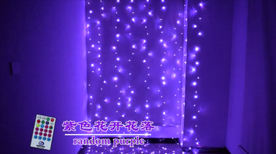 RGB64 function curtain light string