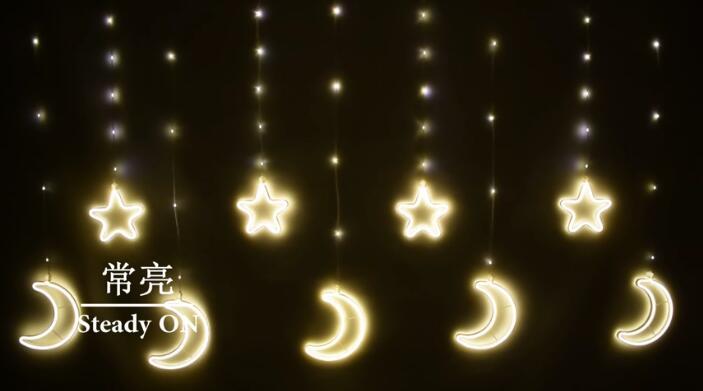 Remote control moonlight star string