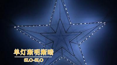 Wrought iron star lights