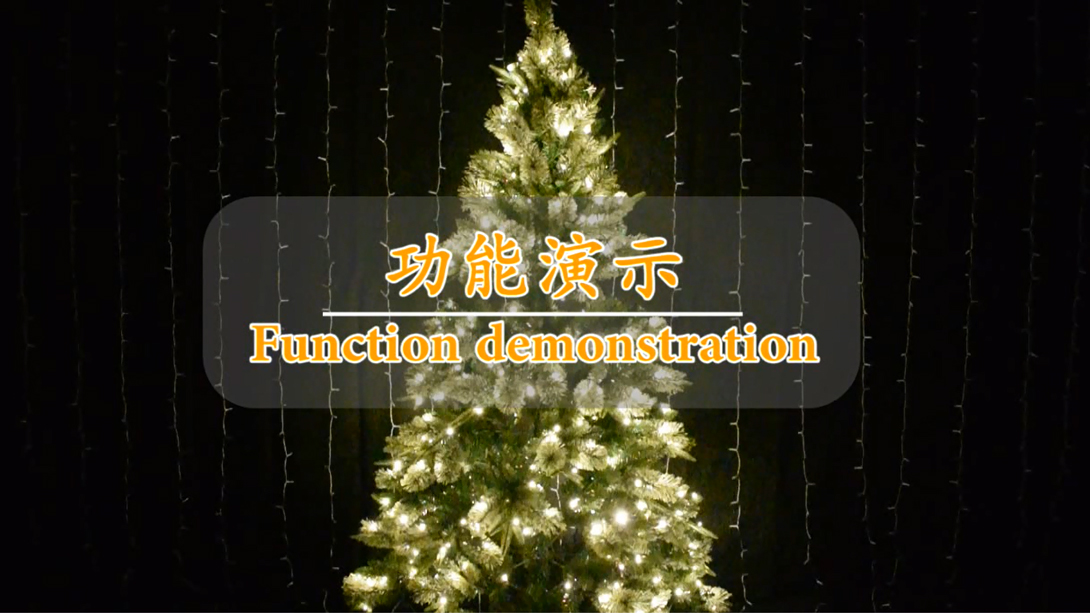 Voice control 11 function optional with jump lights+Christmas tree